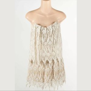 Stone Cold Fox Lace Strapless Dress